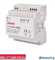 Блок питания  на DIN-рейку e.m-power.30.24 30Вт, DC24В E.NEXT(Енекст)