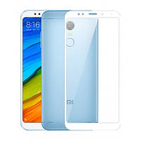 Скло корпусу Xiaomi Redmi 5+ Plus glass lens для переклейки модуля, біле