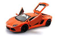 Машинка на радиоуправлении металлическая Lamborghini LP700 оранжевая (машинки на пульте управления)
