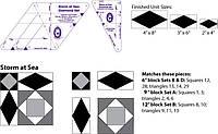 Шаблоны для пэчворка от Marti Michell 8065, Шторм