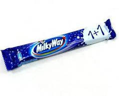 "Шоколадный батончик  ""Milky Way 1+1"" 43 г"