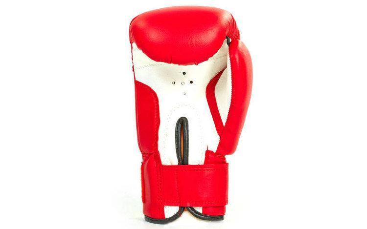 Детские боксерские перчатки в стиле EVERLAST MA-0033-красные размер 8 унц.
