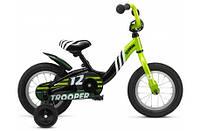"Велосипед 12"" Schwinn Trooper boys 2015 black/lime"