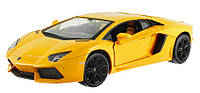 Машинка на радиоуправлении металлическая Lamborghini LP700 желтая (машинки на пульте управления), фото 1