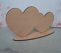 """Сердце двойное на подставке "", фото 1"
