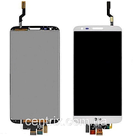 Дисплей (экран) для LG D802 G2/D805 + тачскрин, белый, 20 pin