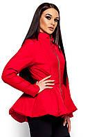 Осенняя женская куртка Антони с баской (42-48 в расцветках), фото 1