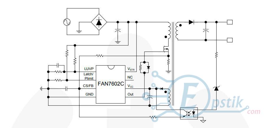 FAN7602C, ШИМ контроллер питания, SOP8