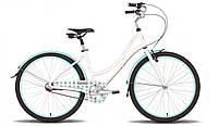 "Велосипед 26'' PRIDE CLASSIC рама - 16"" бело-голубой глянцевый 2015"