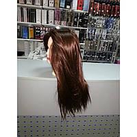 Манекен учебный для парикмахеров Шатен Искусственные волосы 50-55СМ + штатив 518/C-4