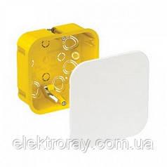 Распределительная коробка 100*100*50 мм для полых стен,  квадратная