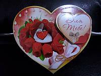 Валентинка одинарная А5 объемная (27-00)
