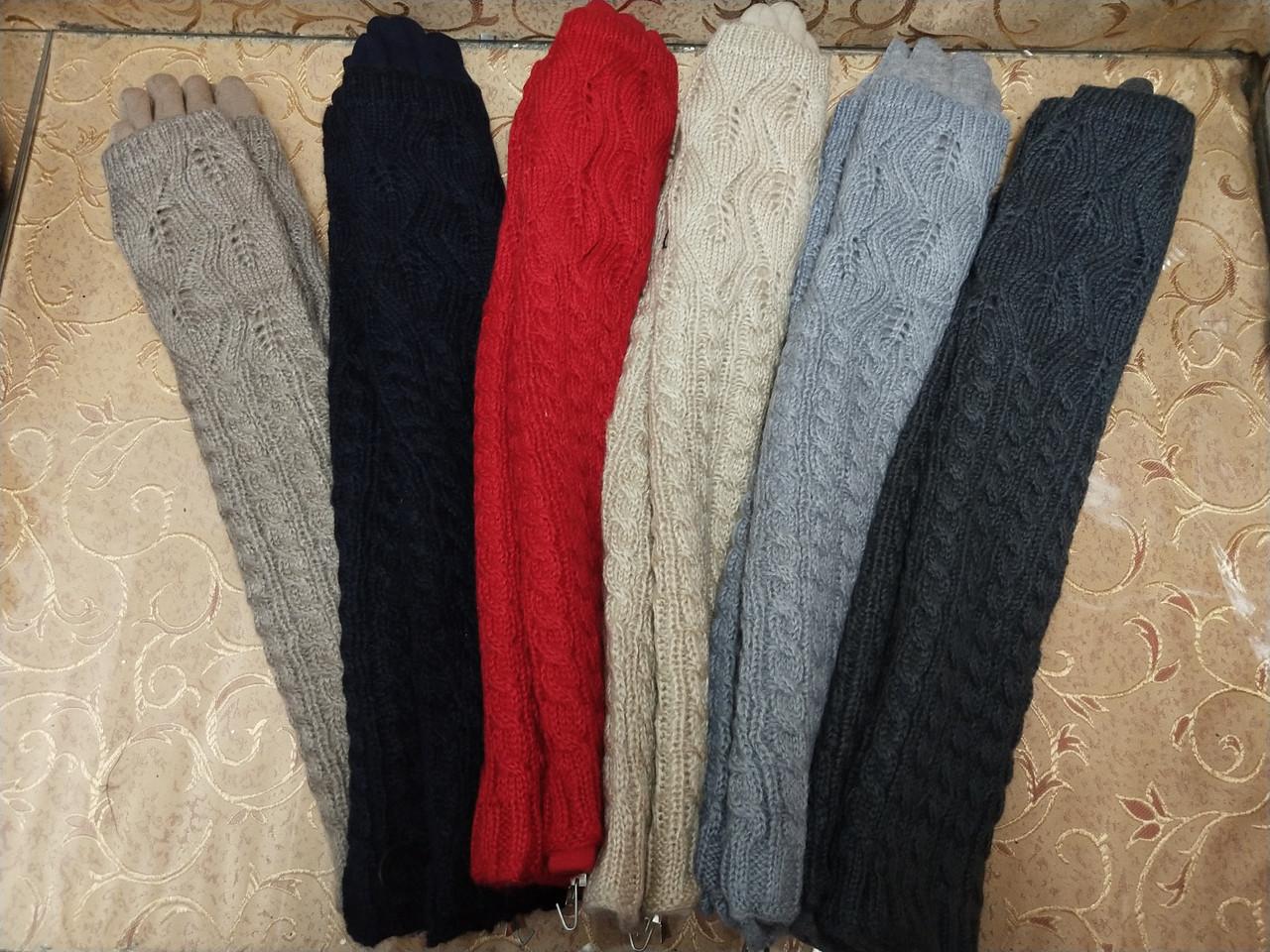 (50cm-6шт)Длинные вязание шерсти трикотаж  женские перчатки только оптом