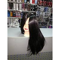 Манекен учебный для парикмахеров Брюнет Искусственные волосы 50-55СМ + штатив 518/C-1