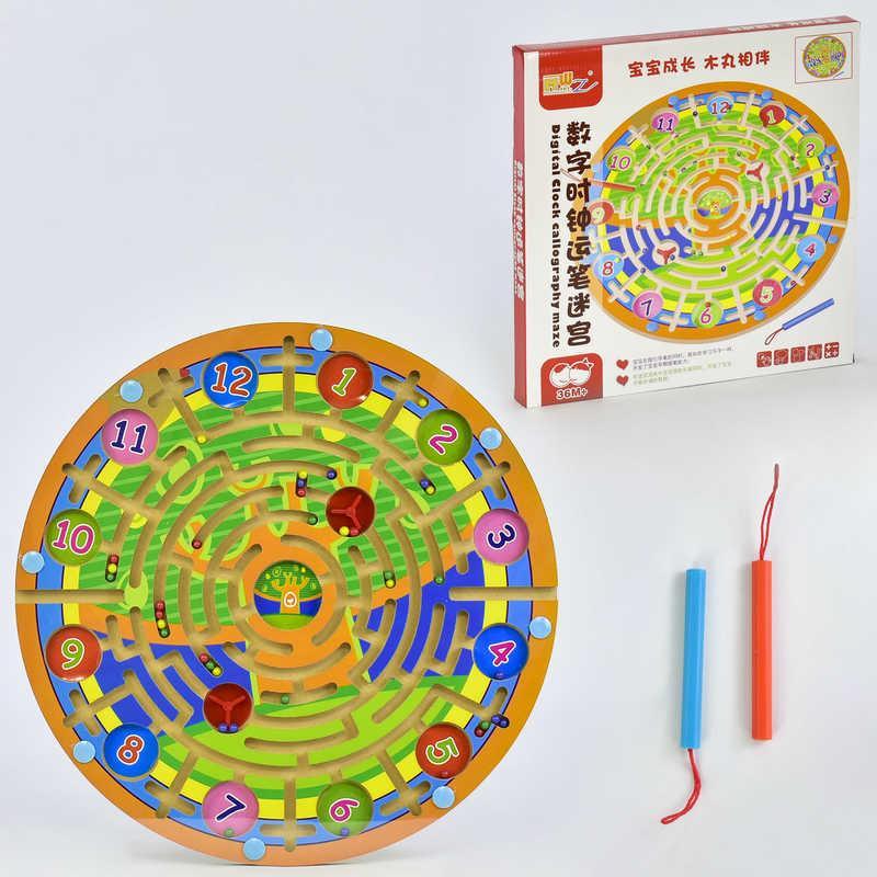 Деревянная игра Лабиринт на магнитах C 31324 (24) 2 вида