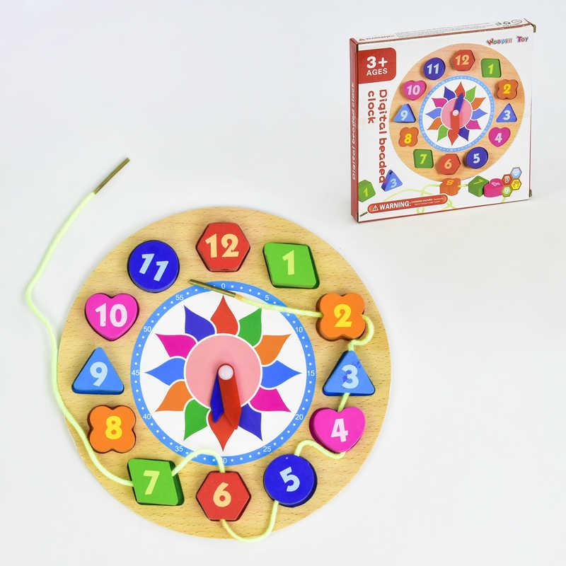 Деревянная игра Часы-Шнуровка C 30346 (120)