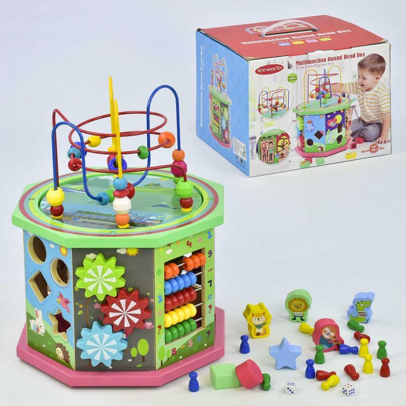 Деревянный Логический куб C 31539 (12) в коробке