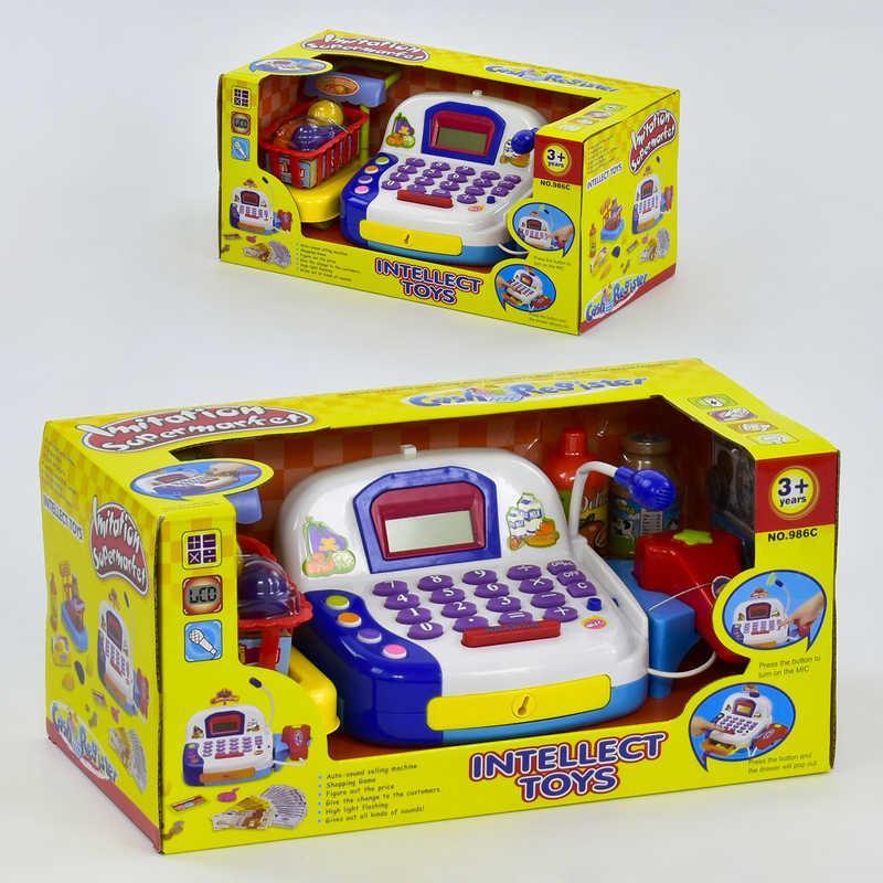 Кассовый аппарат 986 С (12/2) с микрофоном, аксессуарами, на батарейке, в коробке