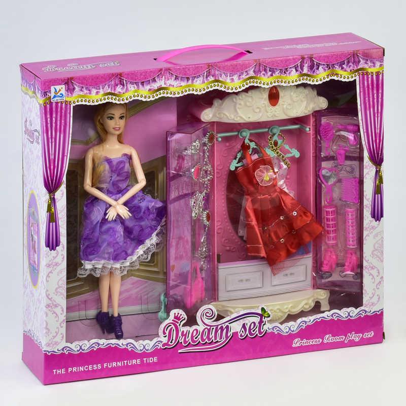 Кукла 589-7 с гардеробом ( 18) в коробке