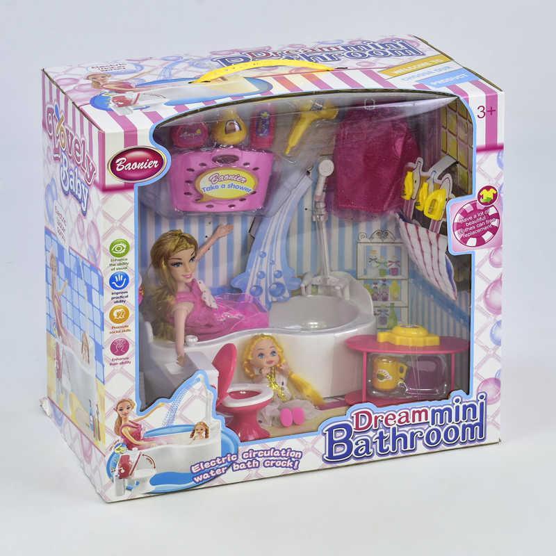 Кукла JJ 6605 с функциональной ванной (12) в коробке