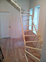Каркас открытой лестницы в квартиру или дом. Открытая лестница в стиле Хай-Тек, фото 1