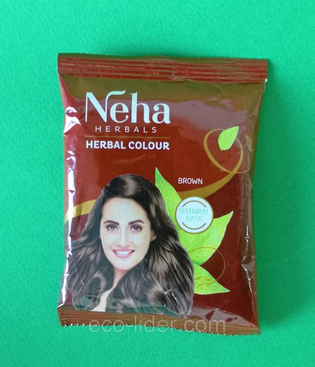 Хна для волос Neha Herbals Brown коричневая, 20 г
