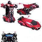 Радиоуправляемая машинка-трансформер Большая Transforms Changeable Lamborghini Красная 1 к 12, фото 4