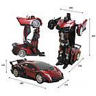 Радиоуправляемая машинка-трансформер Большая Transforms Changeable Lamborghini Красная 1 к 12, фото 5