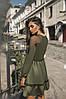 Платье с длинным рукавом, юбка с воланами, отделка сеточка  / 3 цвета арт 7186-595, фото 2