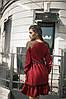 Платье с длинным рукавом, юбка с воланами, отделка сеточка  / 3 цвета арт 7186-595, фото 4