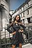 Платье с длинным рукавом, юбка с воланами, отделка сеточка  / 3 цвета арт 7186-595, фото 6