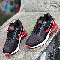 Кроссовки Nike Air Max 270 реплика мужские черные легкие и удобные, подошва пенка (Код: Б1277a)