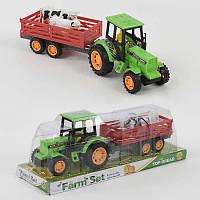 Трактор 0503 (72) с прицепом и животными, в слюде