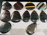 Кабошоны-кулоны из яшмы в гематите