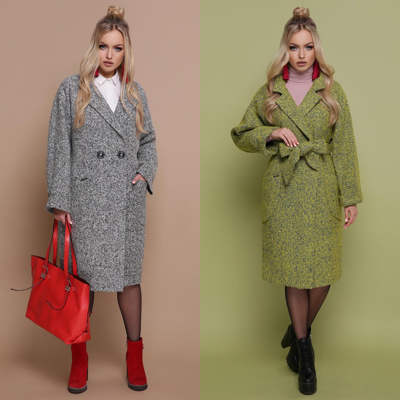 87a8b7faaa8 Купить Женское пальто oversize ниже колена с поясом и английским ...