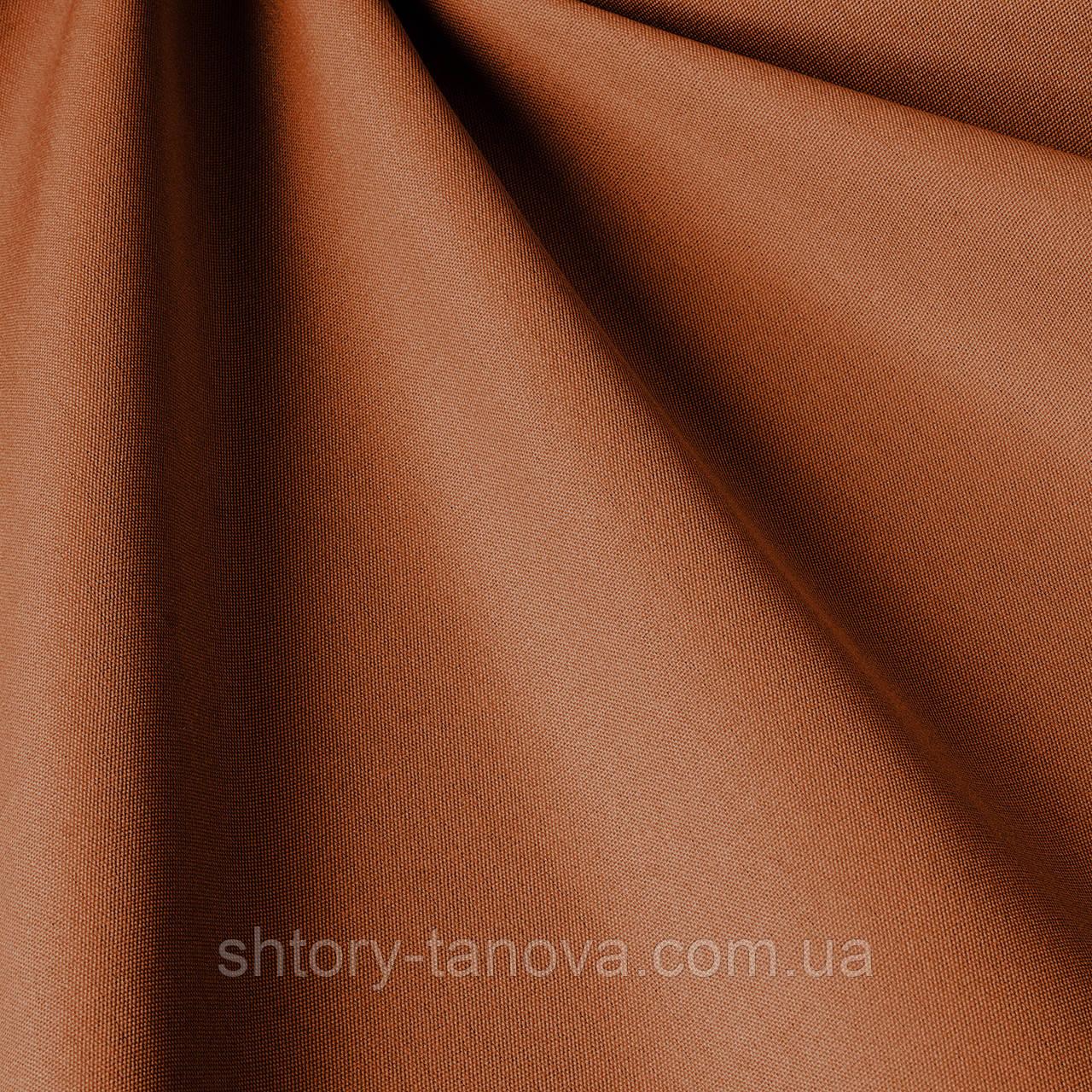 Однотонна тканина для вулиці теракотового кольору