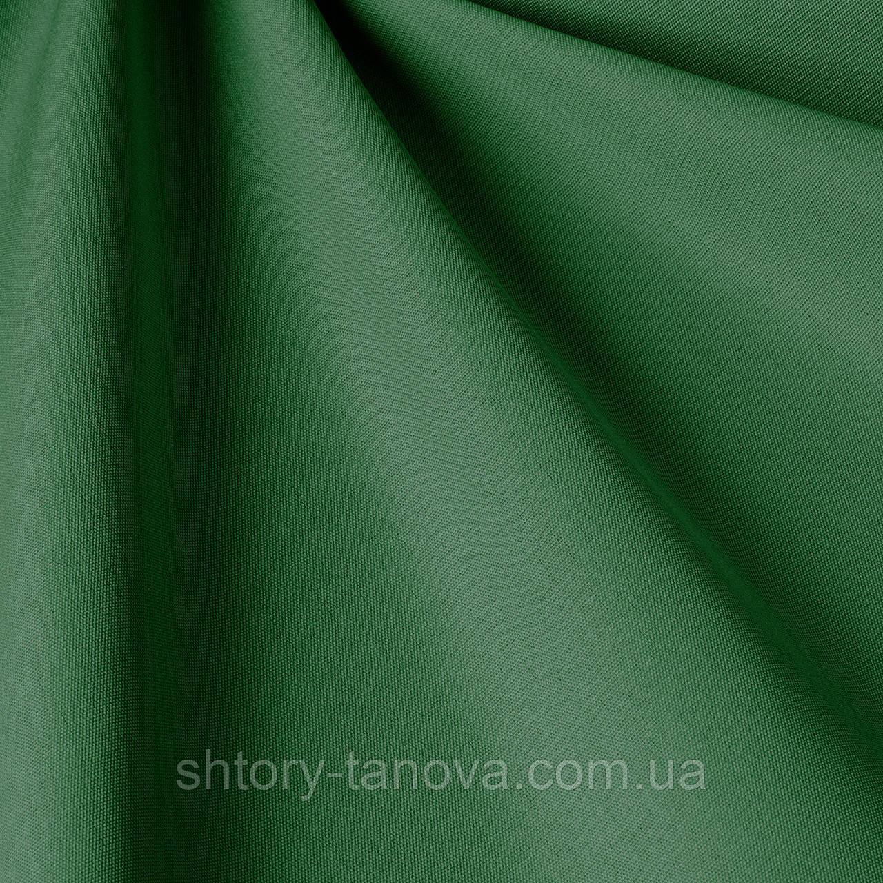 Однотонна вулична тканина водовідштовхувальна зеленого кольору