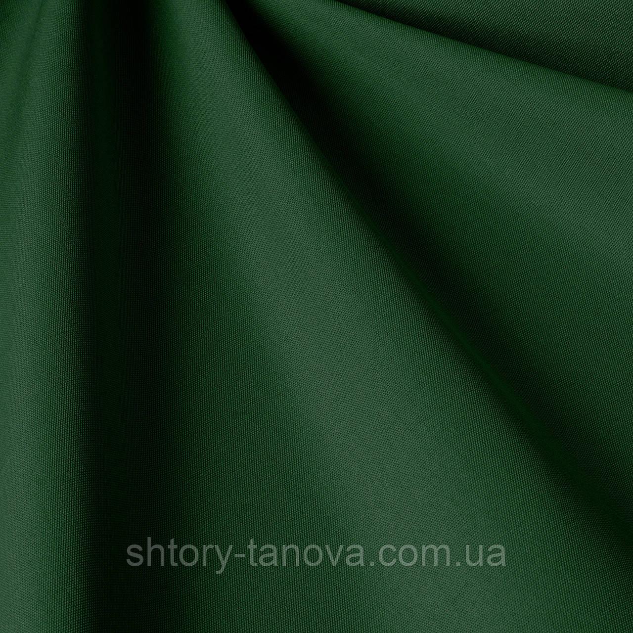 Однотонная уличная ткань темно-зеленого цвета