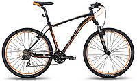 """Велосипед 27,5"""" PRIDE XC-650 V-br рама - 19"""" черно-оранжевый матовый 2015"""