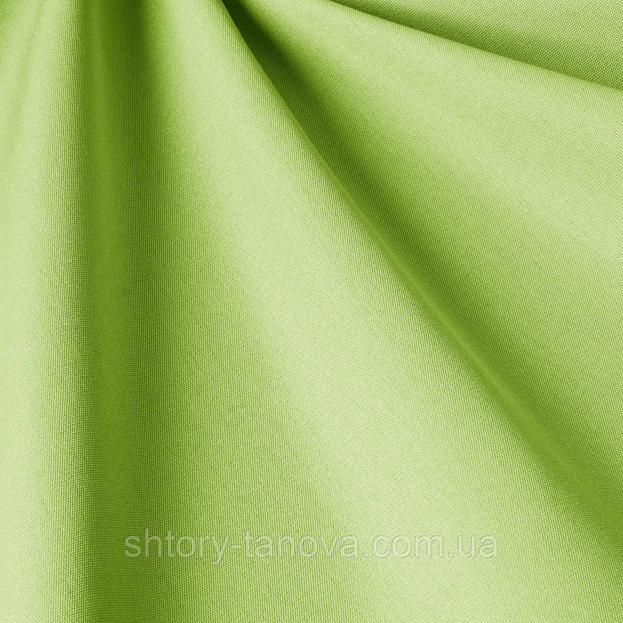 Однотонная уличная ткань салатового цвета