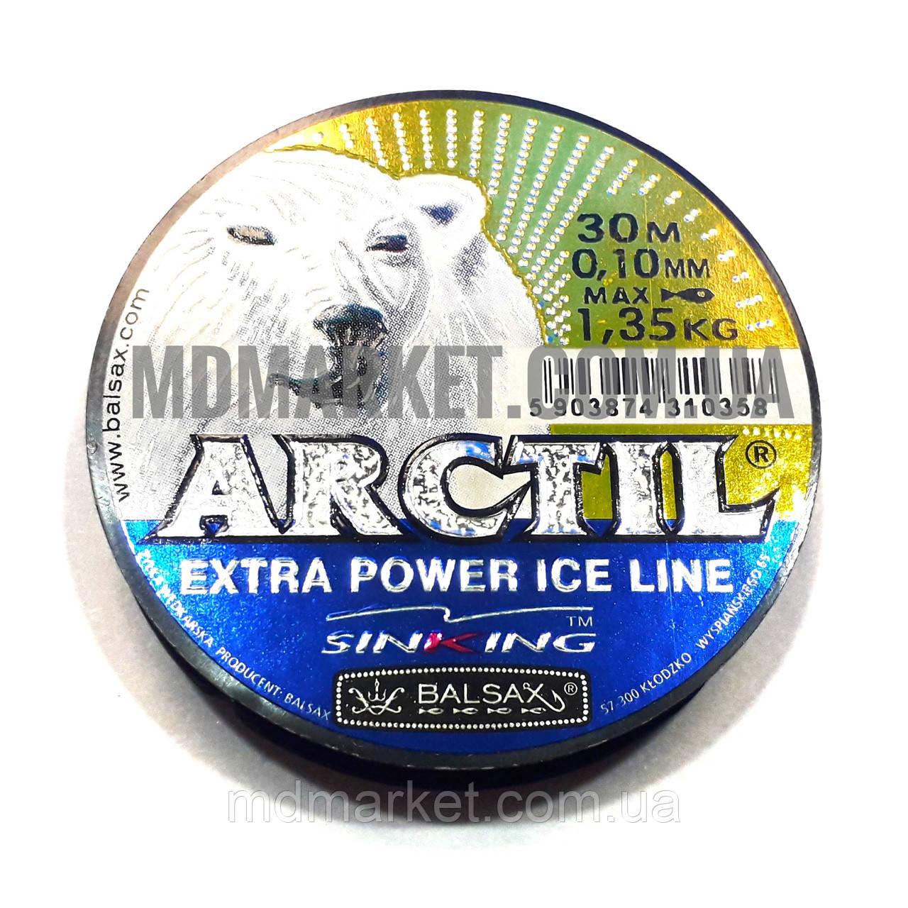 Волосінь Balsax Arctil 30м 0.10 мм, 1,35 кг