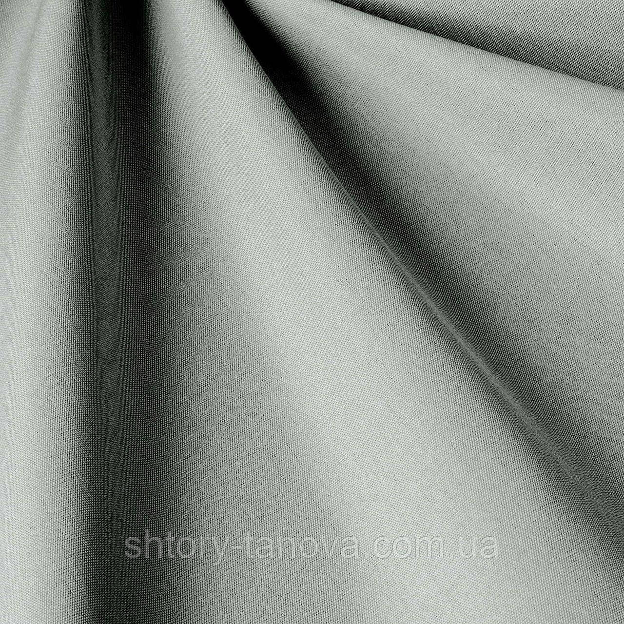 Однотонная уличная ткань светло-серого цвета