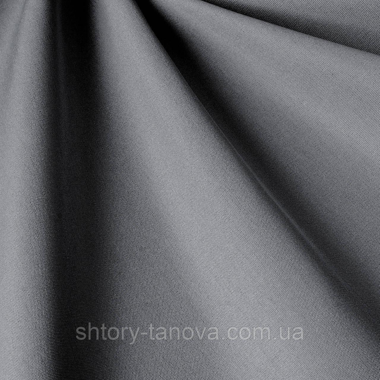 Однотонна вулична тканина темно-сірого кольору