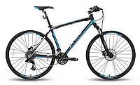 """Велосипед 28'' PRIDE CROSS 2.0 рама - 21"""" черно-синий матовый 2015"""