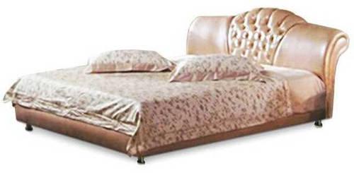 Ліжко з м'якою спинкою з підйомним механізмом Верона (160 х 200) КІМ