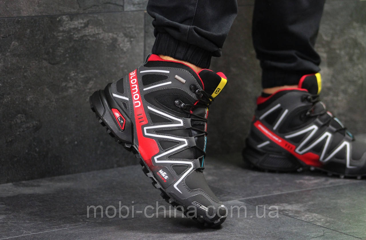 Черевики Salomon Speedcross 3 чорні з червоним, код6491