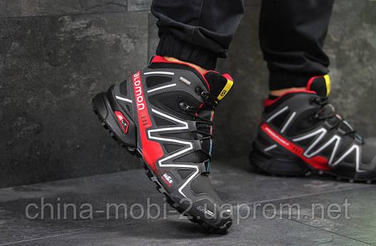 Черевики Salomon Speedcross 3 чорні з червоним, код6491, фото 2