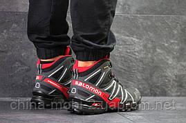 Черевики Salomon Speedcross 3 чорні з червоним, код6491, фото 3