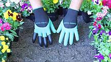 Садовые прорезиновые перчатки с когтями для защиты рук GARDEN GENIE GLOVES, фото 3
