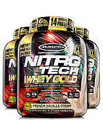 Muscletech NitroTech Whey Gold Protein Isotate 2.55kg сывороточный протеин изолят